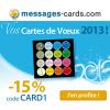 15% de réduction sur les cartes de voeux 2013 avec MESSAGES-CARDS