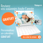 Un calendrier photo mural gratuit chez Vistaprint