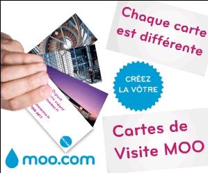 Cartes Visite MOO - Chacune peut être unique!