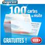 OOPRINT : 100 cartes de visite gratuites