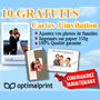 OPTIMALPRINT : 10 cartes d'invitation gratuites