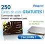 VISTAPRINT : 250 cartes de visite gratuites