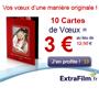 EXTRAFILM : 10 cartes de voeux pour 3 euros