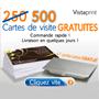 VISTAPRINT : 500 cartes de visite gratuites