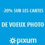 PIXUM : Remise de 20% sur les cartes de vœux photo