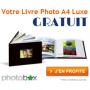 Votre Livre Photo Luxe gratuit par Photobox